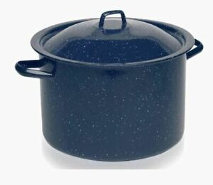 KITCHEN CHEF ALUMINUM 4 QUART BLUE STOCKPOT WITH LID