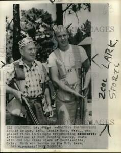 1960 Press Photo Trap shooters Arnold Reiger and James Clark pis00585