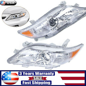 Pair Headlight LeftRight Projector Headlamp Assembly For Toyota Camry 2010 2011 $112.00