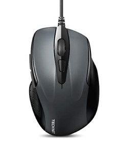 TeckNet 6 Button USB Wired Mouse with Side Buttons Optical Computer Mouse with