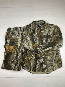 Winchester Men's Hunting Clothes Lot Size Large. Button Down Shirt Cargo Pants