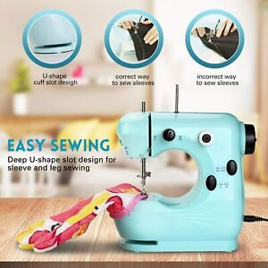 US Mini Portable Sewing Machine with Extension Table for Adults and Kids 2 Speed $21.99