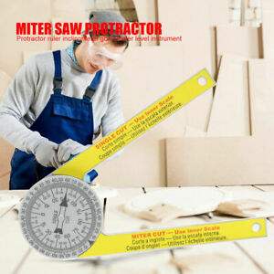 Miter Saw Protractor Dial Accurate Angle Finder with Laser Engraved Scales NEW $8.19