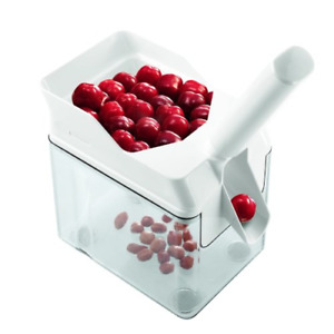 Leifheit Cherry Pitter with Stone Catcher Container Cherry Stone Remover Tool
