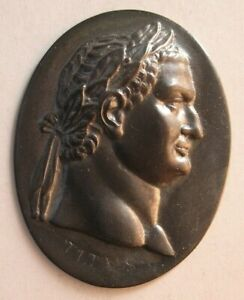 1514 Antique custom made Roman King sterling silver plaque $195.00