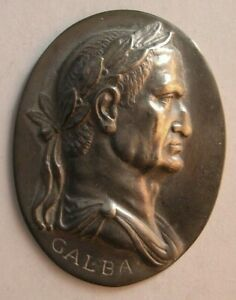 1515 Antique custom made Roman King sterling silver plaque $195.00