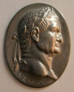 1516 Antique custom made Roman King sterling silver plaque $195.00