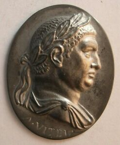 1520 Antique custom made Roman King sterling silver plaque $195.00