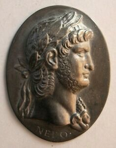 1521 Antique custom made Roman King sterling silver plaque $250.00
