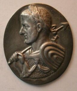 1522 Antique custom made Roman King sterling silver plaque $150.00