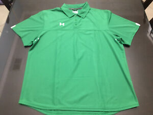 Used Mens Under Armour Polo Shirt XL green $15.00