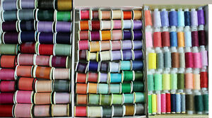 Lot of 143 Assorted Sewing Thread Assorted Colors Coats Signature Corticelli etc $84.99