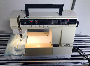 VIKING HUSQVARNA PRISMA 950 SEWING MACHINE WITH CASE AND FOOT PEDAL $475.00