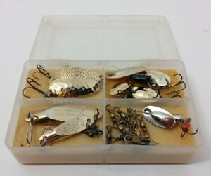 Kastmaster Acme Panther Martin Various Fishing Luers set of 9 with case