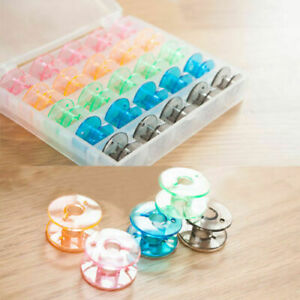 Universal Sewing Bobbin Spool Case Clear 25 Grid Storage Box Container Organiser $5.74