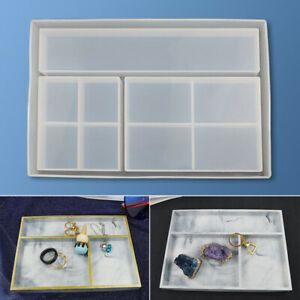 Silicone Mold DIY Storage Box Tray Resin Casting Crystal Epoxy Mould Crafts US