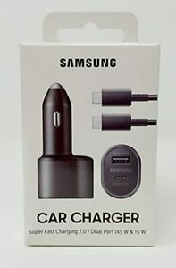 Samsung Official Car Charger Duo 45W 15W Fast Charging EP L5300XBEGWW
