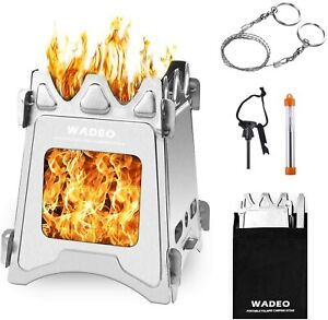 Backpacking Wood Stove Foldable Camping Stove Stainless Steel Compact amp; Light