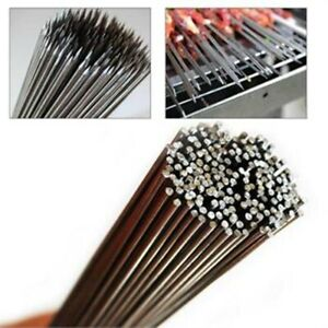 50Pcs Stainless Steel 35cm Camping Barbecue BBQ Skewers Needle Kebab Kabob Stick