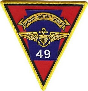 4.5quot; MARINE CORPS MAG 49 AIRCRAFT GROUP MILITARY TRIANGLE EMBROIDERED PATCH $19.99