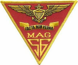 4.5quot; MARINE CORPS MAG 56 AIRCRAFT GROUP MILITARY TRIANGLE EMBROIDERED PATCH $19.99