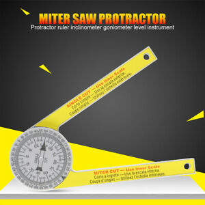 360 Degree Miter Saw Protractor High Accuracy Angle Finder Measuring Ruler Tool $8.16