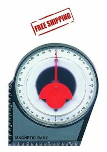 Dial Gauge Angle Finder Magnetic Protractor with Conversion Chart $7.29
