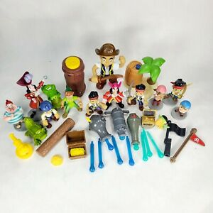 30 Lot Disney Jake amp; The Neverland Pirates Toy Figures amp; Accessories Hook Croc