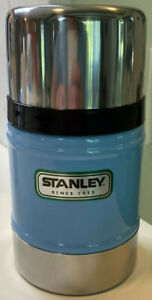 Stanley Vacuum Classic Insulated Thermos 17 Oz Blue Stainless Steel $29.95