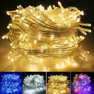 100 200 500 1000 LED Fairy String Lights Plug In Wedding Christmas Party Outdoor $17.09