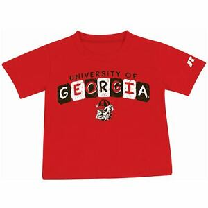 Toddler Russell Red Georgia Bulldogs Block Letter T Shirt $8.99