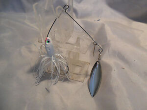 Best Bass Gear. 3 8 ounce Spinnerbait White Tandem New in Package #4 close out