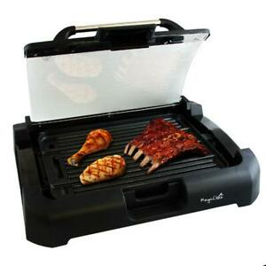 Smokeless Indoor Electric Grill 1800W Non Stick BBQ Removable w Glass Lid NEW