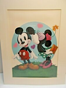 DISNEY MICKEY MOUSE amp; MINNIE ART PRINT BY PETER EMMERICH NEW c $7.95