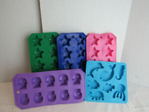 5 Ice Tray Molds For Making Skulls Stars Animal Ice Cubes
