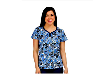MC2 Med Couture Lexi Medical Scrub V Neck Top Large New With Tag