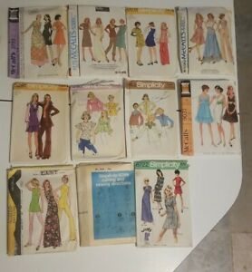 Vintage Sewing Patterns #14 Womans size 12 lot of 11 $15.00
