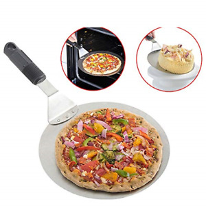 Pizza Peel Metal Round Pizza Paddle Large Pizza Spatula for Baking Homemade and