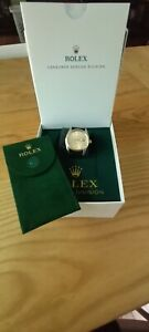 ROLEX DATEJUST 16013 SERVICED 2018 NEW CROWN DIAL DATE DISK HANDS STRAP PERFECT