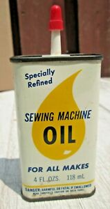 Vintage TACONY Specially Refined Sewing Machine Oil Can 4 oz . used $10.99