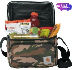Carhartt Deluxe Dual Compartment Insulated Lunch Cooler Bag Camo