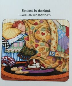 Mary Engelbreit Handmade Magnet Rest And Be Thankful