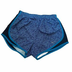 Nike Dri Fit Running Shorts Lined Inner Briefs Blue Animal Print Size Small $10.00