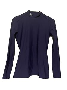 Under Armour Cold Gear Fitted Women Medium Compression Mock Turtleneck Blue $16.00