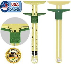 Sliding Gauge 5 in 1 Measuring Sewing Ruler Quilting Patchwork Tailoring Button $9.99