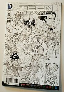 Teen Titans #16 Adult Coloring Book Variant 2016 DC New 52 NM Make Offer $3.99