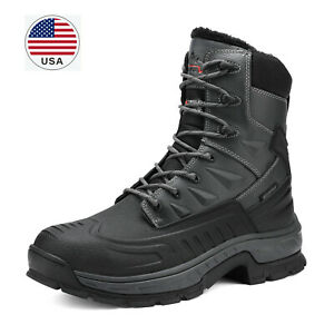 Men#x27;s Winter Snow Boots Shoes Work Boots Insulated Waterproof Rubber Sole Boots