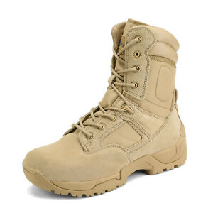 Men#x27;s Military Tactical Work Boots Hiking Motorcycle Combat Bootie New $49.99
