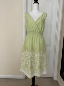 Natural Reflections Woman's Light Green Dress Sleeveless Sz L Made In India $17.00