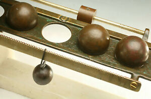 ANTIQUE SCALE BALANCE WEIGHT SCALE UNUSUAL BALL WEIGHTS RARE $275.00